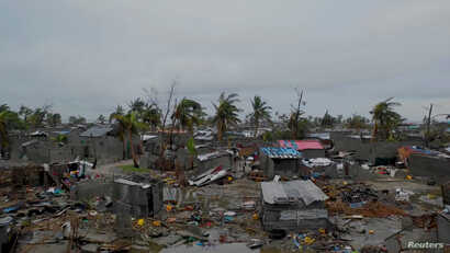 A general view shows destruction after Cyclone Idai in Beira, Mozambique, March 16-17, 2019 in this image taken from a social media video on March 19, 2019. (Care International/Josh Estey)
