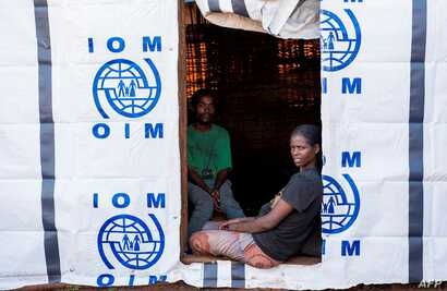 Displaced Oromos sit in a temporary shelter at Banco Chelchele site in West Guji  Ethiopia, July 31, 2018. Ethiopia's Prime Minister Abiy Ahmed's aggressive reform agenda has won praise, but analysts warn that shaking up Ethiopia's government risks e...
