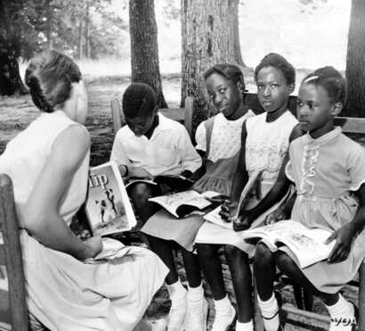 Classes moved outdoors when Prince William County padlocked its public schools rather than desegregate.