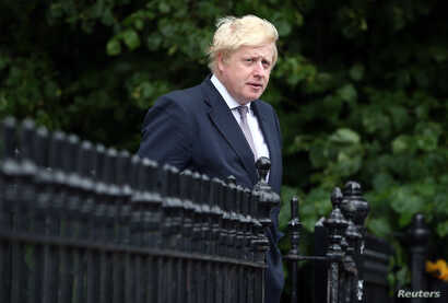 Vote Leave campaign leader, Boris Johnson, leaves his home in London, Britain, June 27, 2016.