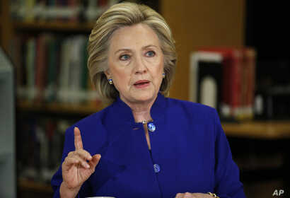 Democratic presidential candidate Hillary Clinton speaks on immigration at an event at Rancho High School in Las Vegas, May 5, 2015.
