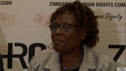 Sheila Matindike of the government-appointed Zimbabwe Human Rights Commission says in Harare, Jan. 22, 2019, at least eight people died from excessive force by the army and police that used live ammunition during the protests.