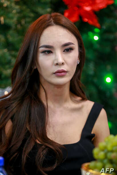 This photo taken on December 2, 2018 shows transgender make-up artist Solongo Batsukh at a salon in Ulaanbaatar, the capital of Mongolia.