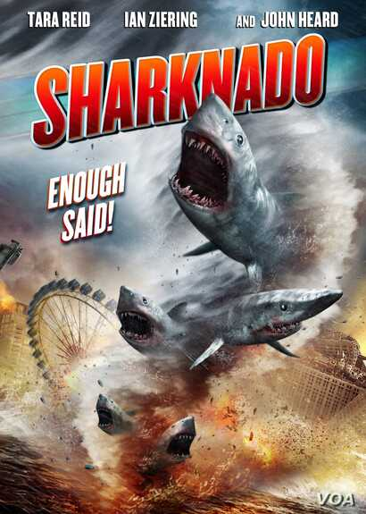 The movie Sharknado was a fictional television movie about a storm that launches sharks into the air. (Sharknado Facebook)