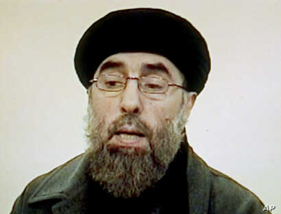 "FILE - Afghan rebel leader Gulbuddin Hekmatyar is seen in this photo grab from a video received by Associated Press Television in Karachi, Pakistan. Seeking to gain new leverage, the notorious Afghan warlord who was designated a ""global terrorist"" by"