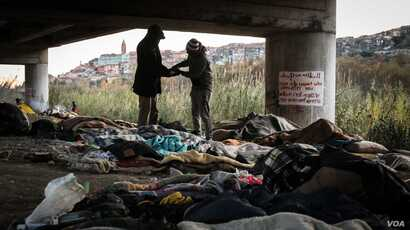 There are roughly 600 migrants and refugees in Ventimiglia, Italy, though the total fluctuates. A significant number live beneath an underpass in the town.
