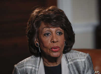 "Rep. Maxine Waters, D-Calif., speaks during an interview at her congressional office on Capitol Hill in Washington, March 23, 2017. Waters skipped President Donald Trump's first address to Congress after calling him abnormal, ""potentially dangerous f"