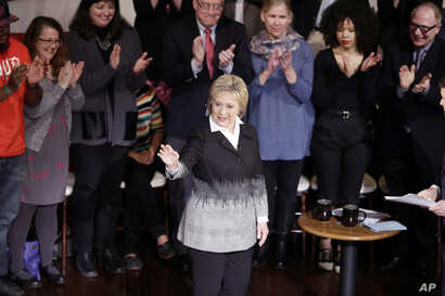 Democratic presidential candidate Hillary Clinton responds to a question during the FOX News town hall at the Gem Theatre in Detroit, Michigan, March 7, 2016.
