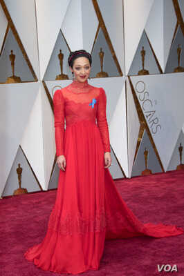 Ruth Negga, Oscar® nominee, arrives on the red carpet of T