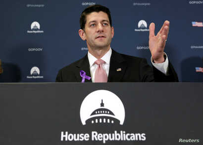 U.S. House Speaker Paul Ryan (R-WI) speaks at a news conference following a closed Republican party conference on Capitol Hill in Washington, May 11, 2016.