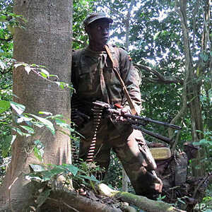 An Ugandan soldier on patrol, searching for the elusive Lord's Resistance Army (file photo)