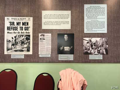 Veterans from both sides of the Vietnam War met in Ho Chi Minh City to debut an anti-war exhibit of materials from the 1960s and '70s.