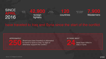 Anti-Islamic State foreign fighter statistics.