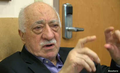 U.S.-based cleric Fethullah Gulen, whose followers Turkey blames for a failed coup, is shown in still image taken from video, speaks to journalists at his home in Saylorsburg, Pa., July 16, 2016.