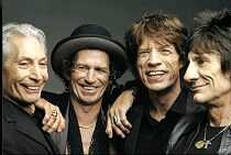 The Rolling Stones (Keith Richards is second from left)