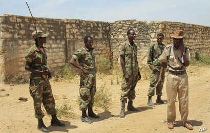 FILE - Ethiopian soldiers patrol in Baidoa, Somalia, Feb. 29, 2012. Both Ethiopia and Kenya have had troops in Somalia for years as part of an African Union mission mandate to fight al-Shabab.
