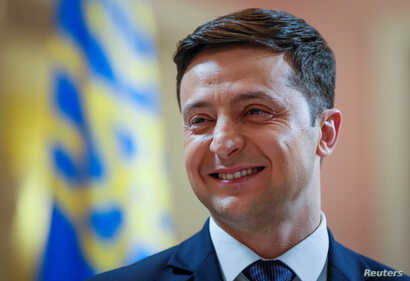 FILE PHOTO: Volodymyr Zelenskiy, Ukrainian comic actor, is a candidate in the upcoming presidential election.