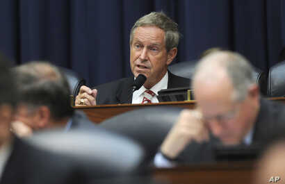 FILE - In this June 11, 2014, photo, Rep. Joe Wilson, R-S.C. speaks on Capitol Hill in Washington.
