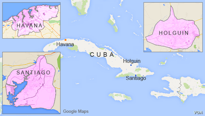 While in Cuba the Pope will visit Havana, Holguin, and Santiago