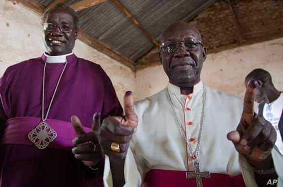 Archbishop Daniel Deng Bul of the Episcopal Church of Sudan (left) and