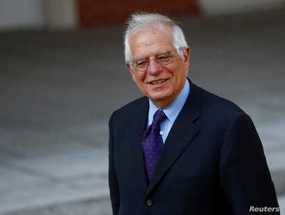 Spain's Foreign Minister Josep Borrell arrives for a cabinet meeting at the Moncloa Palace in Madrid, Spain, July 6, 2018.