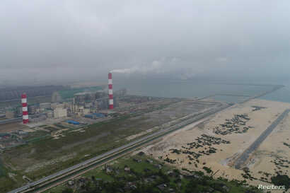 Formosa steel factory is seen in Vietnam's central Ha Tinh province
