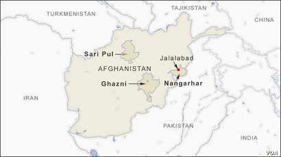 Nangarhar, Sari Pul and Ghazni provinces