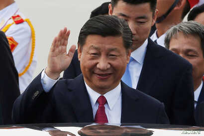 China's President Xi Jinping arrives for the APEC Summit in Danang, Vietnam, Nov. 10, 2017. REUTERS