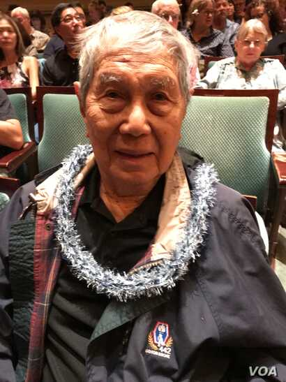 """World War II veteran Ted Tsukiyama was honored at the world premiere of """"Go For Broke"""" at the Hawaii International Film Festival. One of the characters in the film is based on his life."""