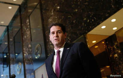Ron Dermer, Israel's Ambassador to the U.S., speaks to members of the news media after meeting with President-elect Donald Trump at Trump Tower in New York City, Nov. 17, 2016.