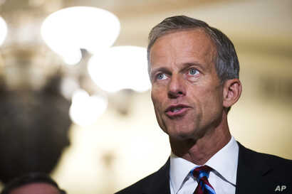 Sen. John Thune, seen in this Sept. 5, 2018 photo, says saying there's a strong desire by both Republicans and Democrats for a new data privacy law.