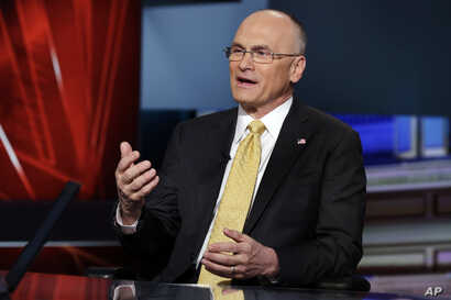 Andrew Puzder, CEO of CKE Restaurants, who was nominated by President Donald Trump to be United States Secretary of Labor, is interviewed. Puzder withdrew his name on the eve of his confirmation hearing.