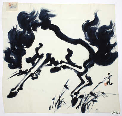 In addition to animation, Tyrus Wong's work includes paintings, pottery, calligraphy, greeting cards, lithographs and even silk scarves.