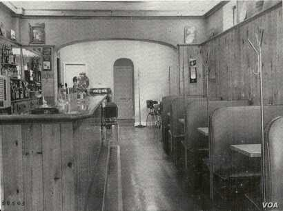 The interior of Brown Tavern on Jonathan Street Hagerstown, Maryland, is seen in an undated photo. (Courtesy of Wendi Perry, Curator of Doleman Black Heritage Museum)