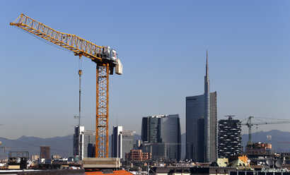 FILE - Porta Nuova's district is pictured in downtown Milan September 2, 2014. Qatar's sovereign fund will become sole owner of a prime real estate area in Milan, which has a market value of more than 2 billion euros ($2.25 billion).