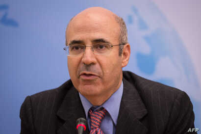 "CEO and co-founder of the investment fund Hermitage Capital Management Bill Browder attends the ""Prospects for Russia after Putin"" debate in the Houses of Parliament, London on Nov. 18, 2014."