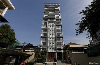 FILE - A high-rise is seen in central Phnom Penh, Cambodia, Oct. 19, 2015.