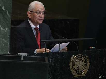 Jorge Valero, Venezuelan Ambassador to United Nations, addresses the 67th session of the United Nations General Assembly at U.N. headquarters in New York, Oct. 1, 2012.