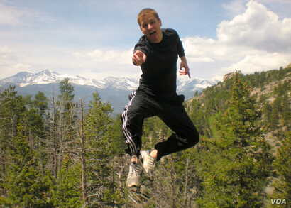 "Floating in air: Visiting Rocky Mountain National Park as part of a ""Mission and Retreat"" trip with the Methodist Wesley Foundation student ministry Mikah Meyer was part of at the University of Memphis - May 2009."