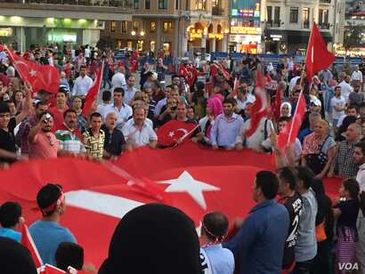 Supporters of Turkish President Recep Tayyip Erdogan have held nightly rallies since Friday's failed coup. At this rally Monday night, they called for Turkey to reinstate the death penalty as the government arrested thousands including soldiers, gene...