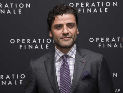 """Oscar Isaac attends the premiere of """"Operation Finale"""" at the Walter Reade Theater, Aug. 16, 2018, in New York."""