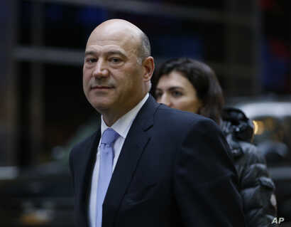 Goldman Sachs Chief Operating Officer Gary Cohn leaves Trump Tower, Dec. 13, 2016, in New York.