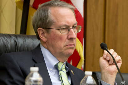 FILE -  House Judiciary Committee Chairman Rep. Bob Goodlatte, R-Va., listens to testimony on Capitol Hill in Washington.
