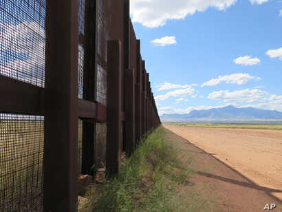 Part of the border fence near Naco, Arizona, is seen in this Sept. 16, 2015 file photo.