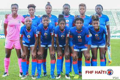 This official team photo appeared on the Haitian Soccer Federation's Facebook page. (FHF photo)