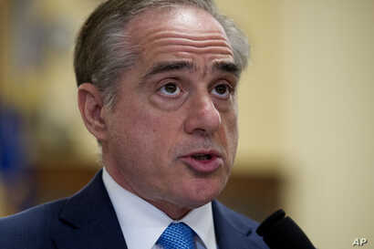 Secretary of Veterans Affairs David Shulkin, addresses the House Veterans' Affairs Committee's hearing on the Veterans Affairs community care program, on Captiol Hill, March 7, 2017.