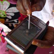 The information collected on a PDA is used to determine where to send food aid.