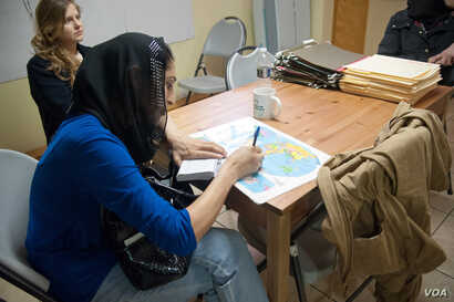 Skills also are taught to younger Afghan-Americans in WAW's Young Leadership Program. Participants, some as young as 15, are taught about women's rights and empowerment. (Credit: WAW)