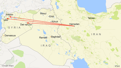 Russian planes will fly  out of Hamedan air base, in Iran