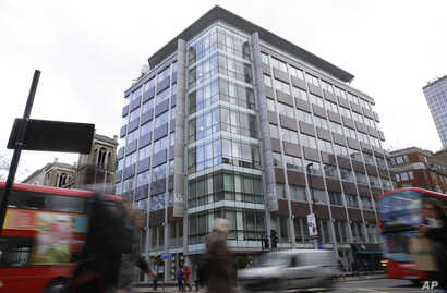 A general view of the building at 55 New Oxford Street that contains offices of Cambridge Analytica in London, March 23, 2018.